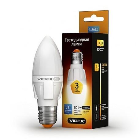 LED лампа VIDEX C37 5W E27