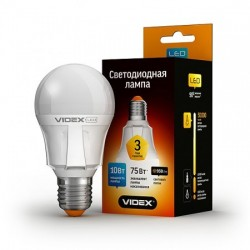 LED лампа VIDEX A60 10W E27 3000K 220V