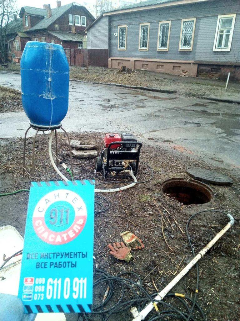 Чистка канализации в Чернигове