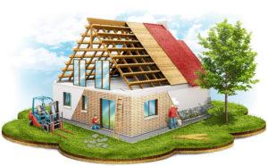 Кровля крыш домов и утепление стен фасадов